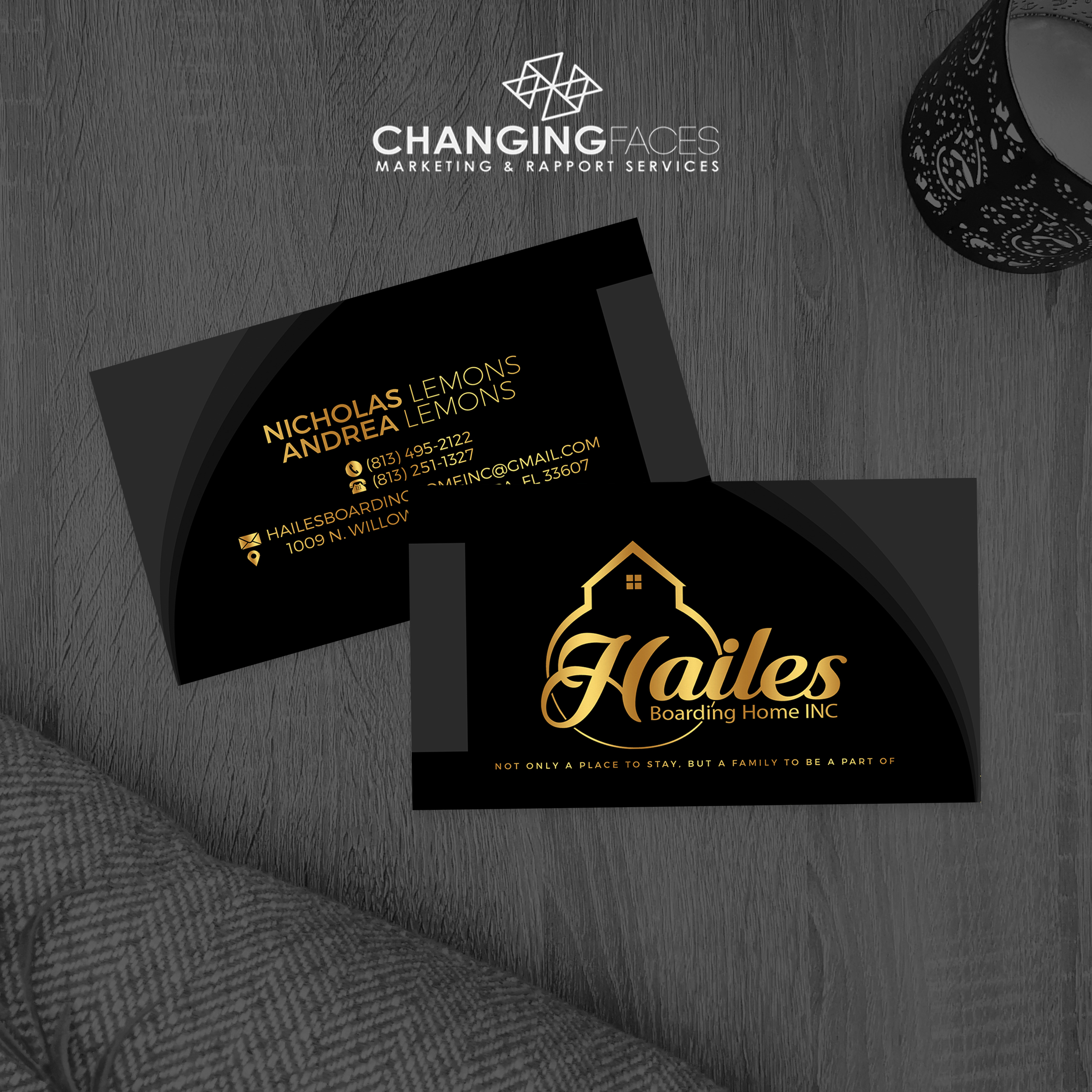 Hailes Bussines cards 2 mockup