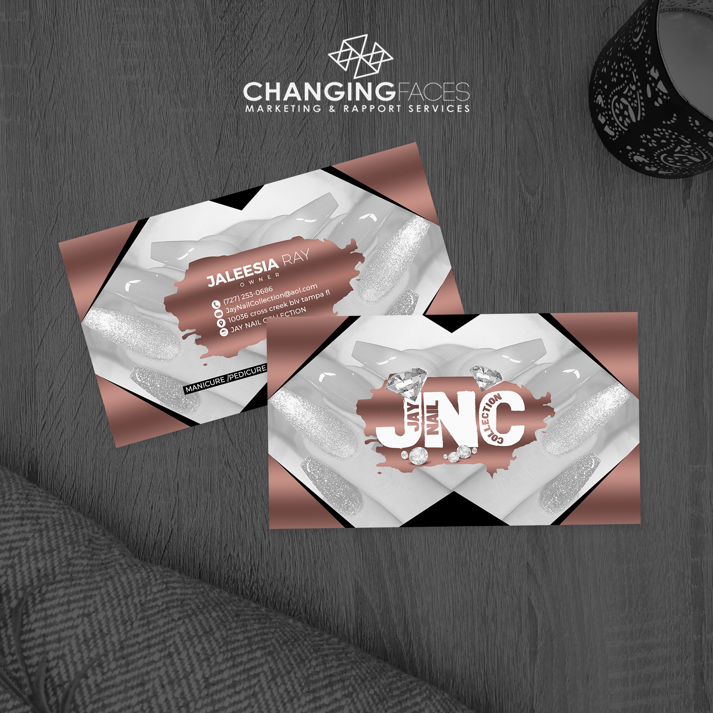 JNC business cards mockup