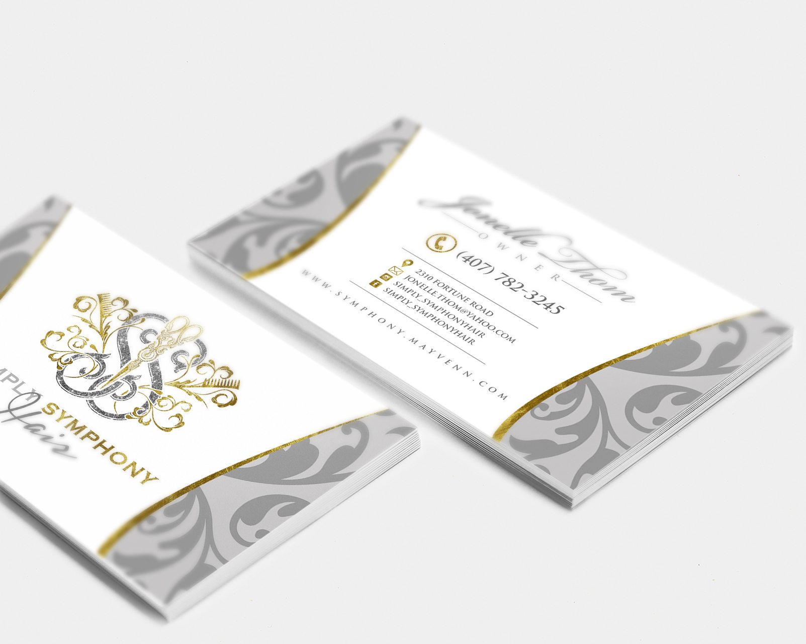 SS business cards mockup