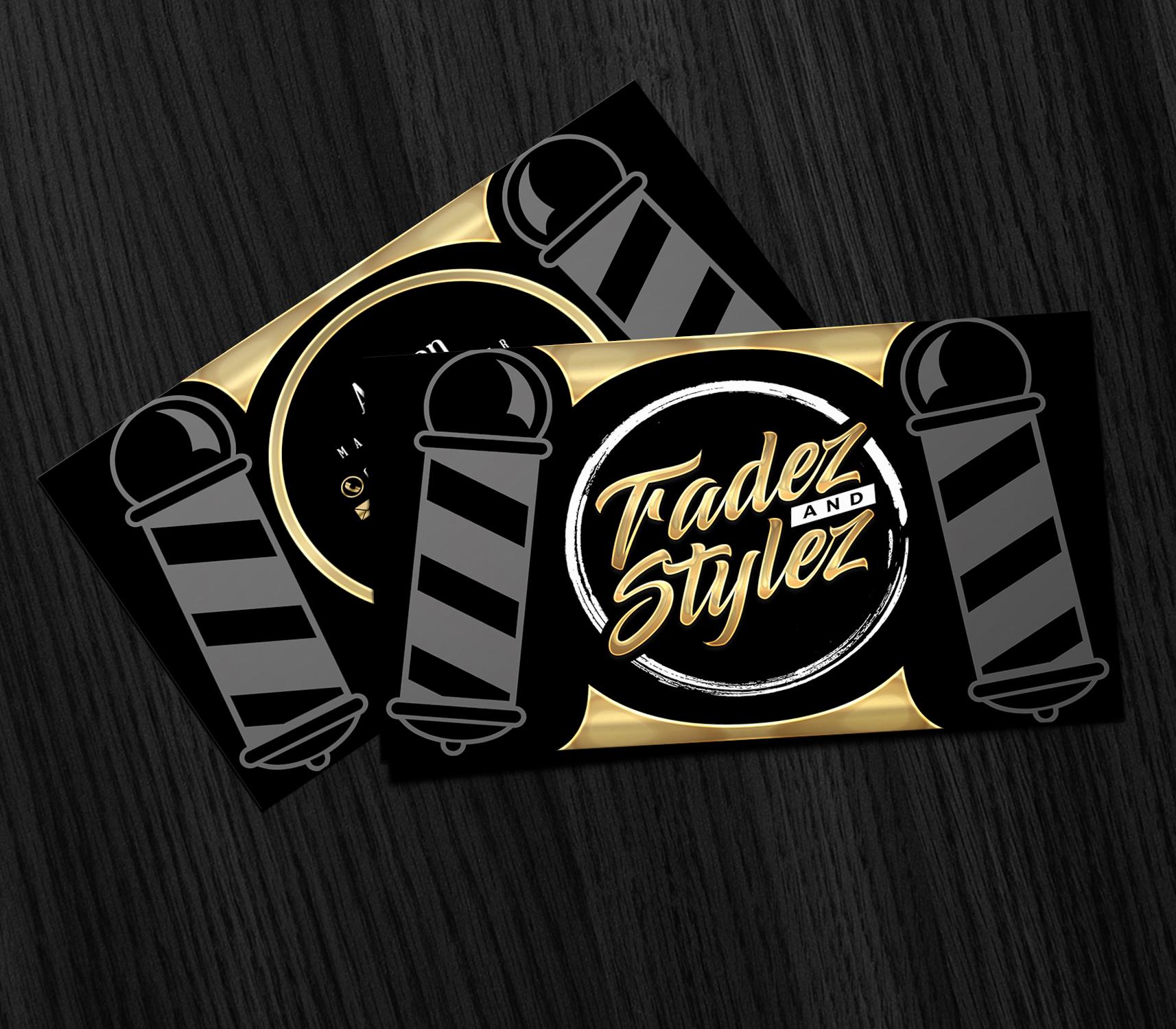 Tradez and stylez business cards mockup